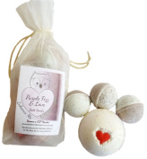 Enhance Me Purple Fizz and Love, Handmade with Organic Palm Oil, Rich Shea Butter and Coconut Oil, Spa Bath Bombs Gift Set