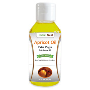 Pure Apricot Oil - 120ml First Cut, Cold Pressed, Extra Virgin, Unrefined Apricot Kernel Seed Oil with Nutty Smell for Anti-Ageing, Face Moisturiser, Body Oil, Sensitive Skin, Acne and Chapped Lips
