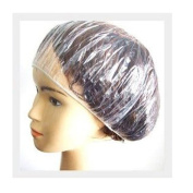 Adecco LLC 100Pcs Disposable Clear Bouffant Style Caps