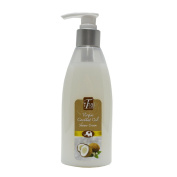 iThai Virgin Coconut Oil Shower Cream 210G White Creamy Liquid