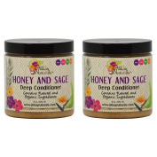 "Alikay Naturals Honey and Sage Deep Conditioner 240ml ""Pack of 5.1cm"