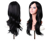 New Style Black 70cm Women's Hair Wig Long Big Wavy Hair Wig