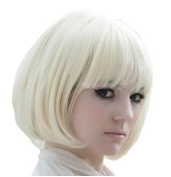 Fashion Short Bob Creamy White Wig Cosplay Wig