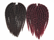 BEST LINA Collection Synthetic Hair Crochet Braids 2X Havana Mambo 36cm
