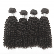 4 PCS/ lot Unprocessed Raw Brazilian Virgin Hair Extension 100% Human Hair weft Natural Colour Kinky Curl Hair Weaving