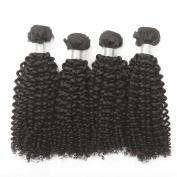 4 PCS/ lot Unprocessed Raw Brazilian Virgin Hair Extension 100% Human Hair weft Natural Colour Kinky Curl Hair Weaving