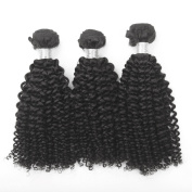 3 PCS/ lot 100% Human Hair weft Unprocessed Raw Brazilian Virgin Hair Extension Natural Colour Kinky Curl Hair Weaving