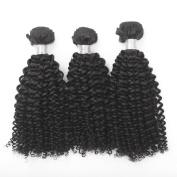 3 PCS/ lot 100% Human Hair weft Unprocessed Raw Brazilian Virgin Hair Extension Natural Colour Kinky Curl Hair Weaving