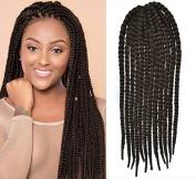 Dark Brown Colour Crochet Braid Hair Extensions, Hair Braids Havana Mambo Twist Style Cuban Twist UF539