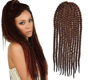 Auburn Colour Crochet Braid Hair Extensions, Hair Braids Havana Mambo Twist Style Cuban Twist UF533
