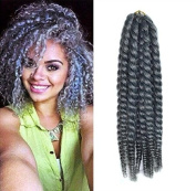 30cm Grey Colour Crochet Braid Hair Extensions, Hair Braids Havana Mambo Twist Style Cuban Twist UF522