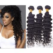 Ballice Hair 7A Peruvian Deep Wave 3Pcs Virgin Hair Wave Unprocessed Deep Curly and Wavy Hair Weave