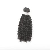 8- 80cm Nautral Colour Unprocessed Raw Kinky Curl Brazilian Virgin Hair Weft Extension