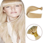 Fenicy 100Strands AAAAAAA Nano Ring Tip Straight Remy Human Hair Extensions