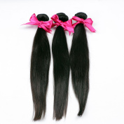 Original Queen 3Pcs Mixed Inches 6A Peruvian Virgin Human Hair, 100% Unprocessed Straight Hair Extensions Weave, 300g Total 10 10 25cm