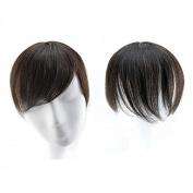 Clip In 100% Human Hair Bangs Top Piece