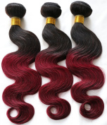 Ombre 2 Tone Brazilian Hair Body Wave Ombre Brazilian Hair Weave Bundles 1B BUG T Hair Products 7A Ombre Virgin Hair RED
