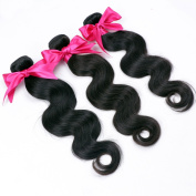 Original Queen Real Virgin Peruvian Hair Extensions 3 Bundles Body Wave Human Hair Weave Weft Natural Colour Tangle Free 18 18 46cm