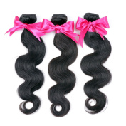 Original Queen High Quality Virgin Hair Body Wave Weft Mixed Bundles 100% Brazilian Human Hair Extension Weave Natural Black Colour 18 20 60cm