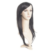 Angel Wave(TM) 50cm Long Straight Hair Wig with Side Bangs Women Synthetic Wigs Lace Front Cosplay Party Wig