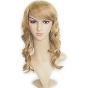 Angel Wave(TM) 46cm High Quality Wig Wavy Curly Hair with Side Swept Bangs Women Wigs for Costume Party Cosplay