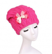 BB & Love Women's Cute Bowknot Dry Hair Towel Cap Shower Bathing Hat