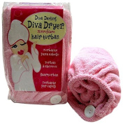 Diva Darling Terry Patented Turban - Pink