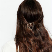 Joyci 1Pcs Hollow Triangle Geometric Metal Hairpin Women Girls Side Clip