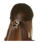 Joyci 1Pcs Exquisite Women's Hair Pin Simple Style Star Ponytail Hair Clip
