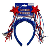 Patriotic Sequin Stars with Ribbon Streamers Headband