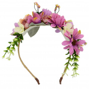 Beautiful Women Ladies Girls Flowers Wreath Headband Floral Crown Garland Halo Hair Hoop for Wedding Festivals FWB1908