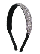 Crystal Inline Flexible Fashion Headband - Clear Crystals