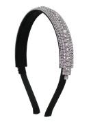 Crystal Inline Flexible Fashion Headband - Clear Crystals