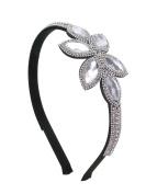 Floral Crystal Flexible Fashion Headband - Clear Crystals