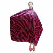 Hiliss Pro Salon Barbers Hairdresser Zebra Pattern Hair Cut Hairdressing Cape Cover Cloth