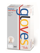Product Club Latex Disposable Gloves Powdered Sz Small 100ct by Product Club