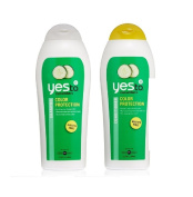 Yes To Cucumbers Colour Protection Conditioner, 340ml + Colour Protection Shampoo, 340ml