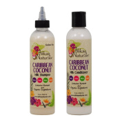 "Alikay Naturals Caribbean Coconut Milk Shampoo & Conditioner 240ml ""Set"""