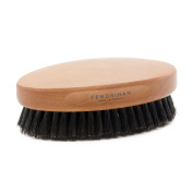 Fendrihan Genuine Boar Bristle and Pear Wood Military Hair Brush, Made in Germany STIFF BRISTLE