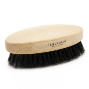 Fendrihan Genuine Boar Bristle and Beech Wood Military Hair Brush, Made in Germany STIFF BRISTLE