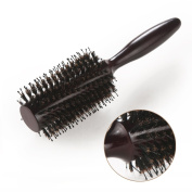 HOMEIDEAS Styling Essentials Natural Boar Bristles Hair Brush, Round Comb Ruled 5.6cm