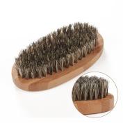 HOMEIDEAS Horsehair Shoe Shine Brush Professional Boot Shoes Shine Polish Buff Brush