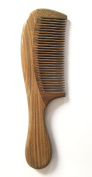 Natural Green Sandalwood Handwood Comb For Hair, Portable With Aromatic Smell And High Quality- Fine Tooth