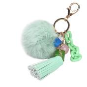 Sankuwen Hanging Plush Ball Keychain Bag Ornaments Pendant