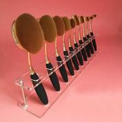 Sankuwen Brush Storange Place Organiser Clear Acrylic 10 Lattices Cosmetic Display Shelf