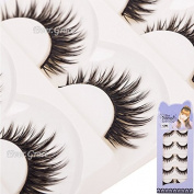 5 Pairs Long Thick Makeup False Eyelashes Fake Eye Lash Extension Handmade Soft