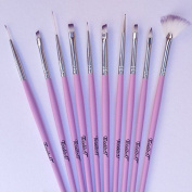 Twinkled T Cotton Dandy Nail Art 10 Pc Brush Set