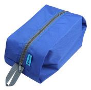 Durable Lightweight Hanging Toiletry Kit, Portable Travel Organiser with Zipper for Men & Women, Blue
