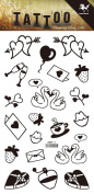 Wonbeauty best and high quality temporary tattoos Carton design long lasting and realistic temporary tattoos including hearts,swans,strawberries,gift card,letter,cheers,etc.
