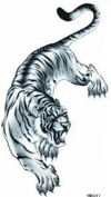 Wonbeauty best and high quality temporary tattoos Fiercely tiger long lasting and realistic temporary tattoos